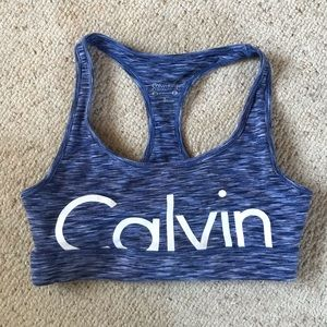 calvin klein blue sports bra
